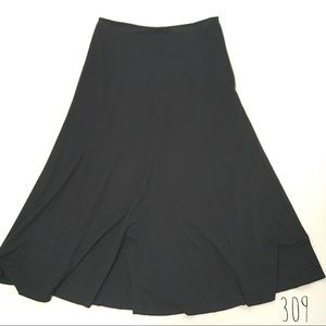 J. Jill Size 10 Black Pleated Skirt (309)